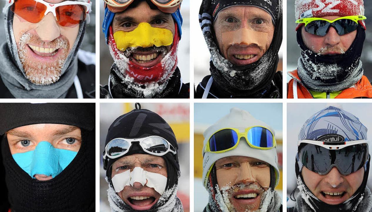 Eis-Eilige: Augen, Mund, Nase und Ohre...ger (oben, ganz rechts) wurde Neunter.  | Foto: Patrick Seeger
