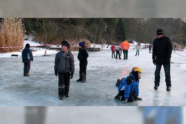 Draußen auf dem Eis