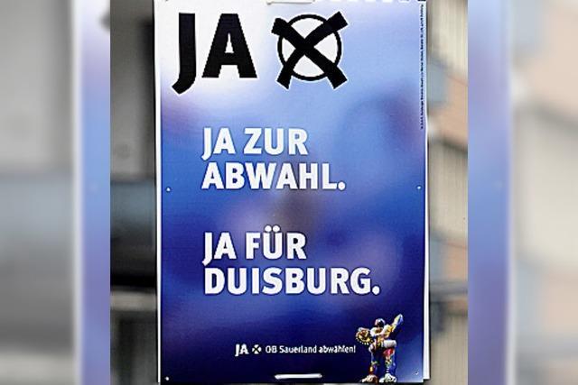 Duisburg wählt Oberbürgermeister Adolf Sauerland ab