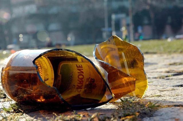 Absolutes Glasverbot für die Hoorige Mess'