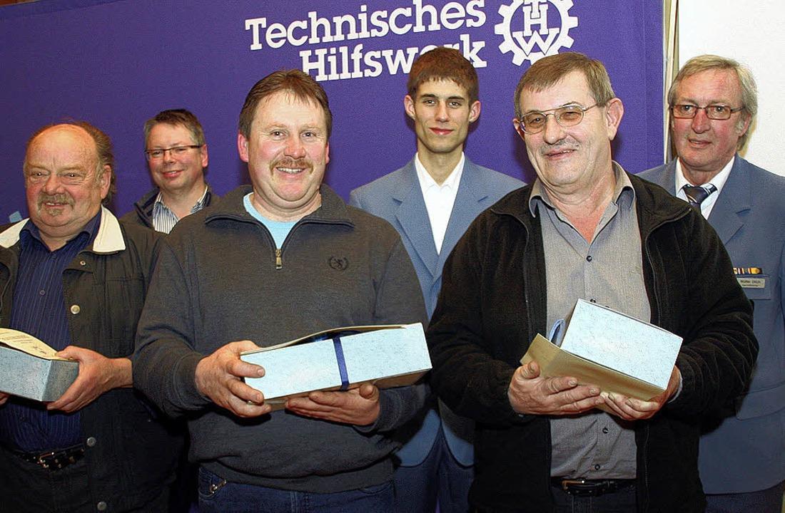 Treue Mitglieder (von links):  Hans Ge...n-Schwenningen für ihre Treue geehrt.     Foto: Charlotte Fröse