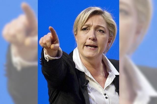 In der alten Hochburg: Marine Le Pen auf Wahlkampftour in Straßburg