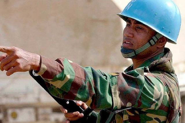 Syrien erteilt UN-Blauhelmen eine Absage