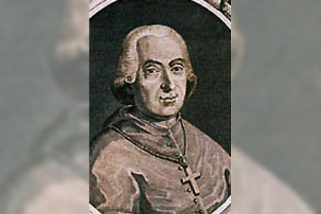 Februar 1762 - als der vatikanische Sondergesandte St. Blasien besuchte