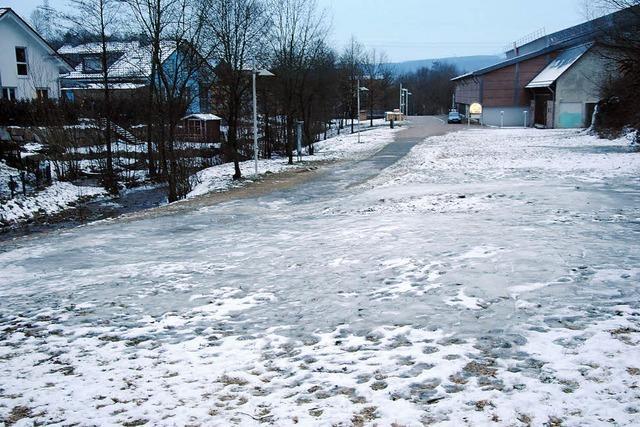 Gefährliche Eisbahn