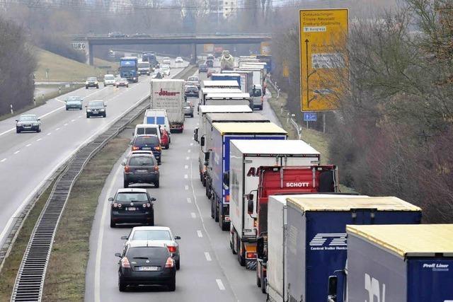 Lkw-Maut auf Zubringer Mitte ruft Kritik in Freiburg hervor