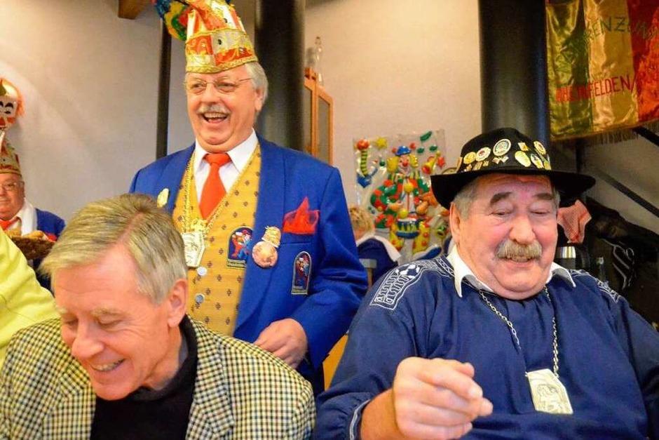 Ozume Wilfried Markus, OB Eberhard Niethammer und Ehren-Oberzunftmeister Roland Glück (Foto: Ingrid Böhm-Jacob)