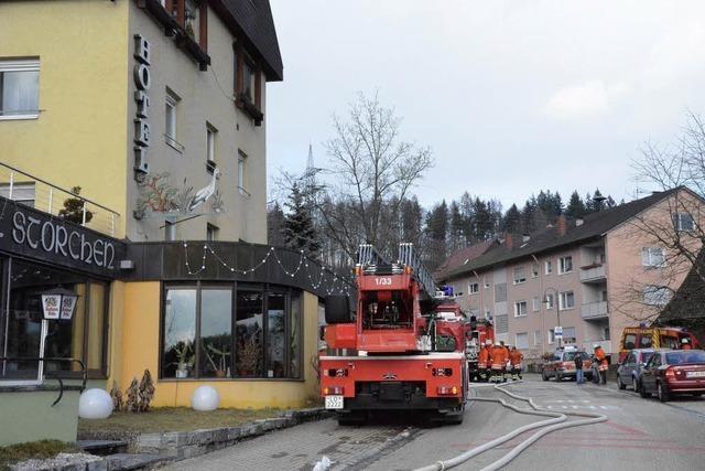 Feuer im Hotel Storchen wurde rasch gelöscht