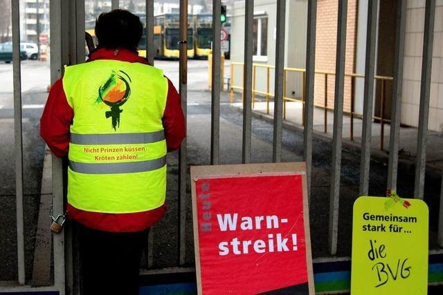 Streik in Berlin bei BVG