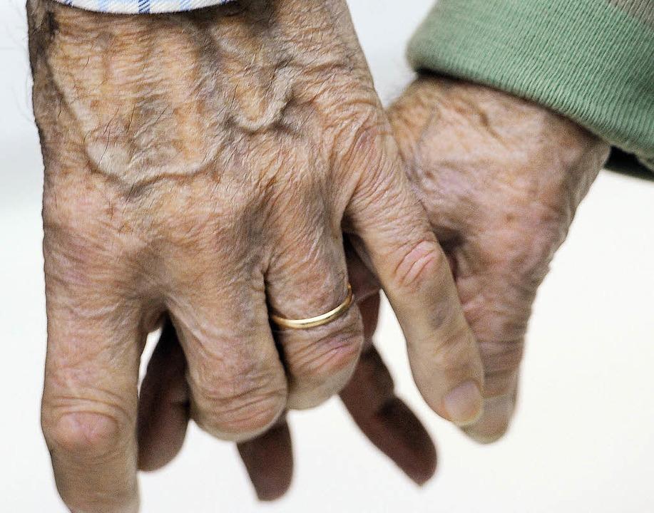 Ein Alzheimer-Patient mag immer mehr v...Miteinander kann ihm erhalten bleiben.    Foto: AFP ImageForum