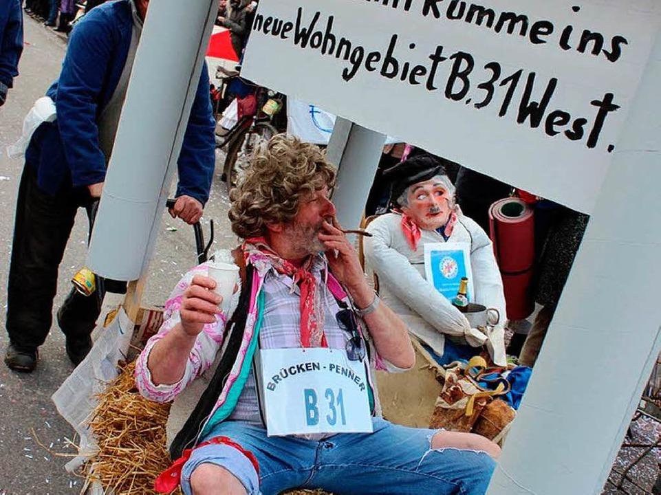 Gottenheim bekommt  Zuzug: Unter der  ... sich der Gesangverein als Penner ein.  | Foto: Picasa