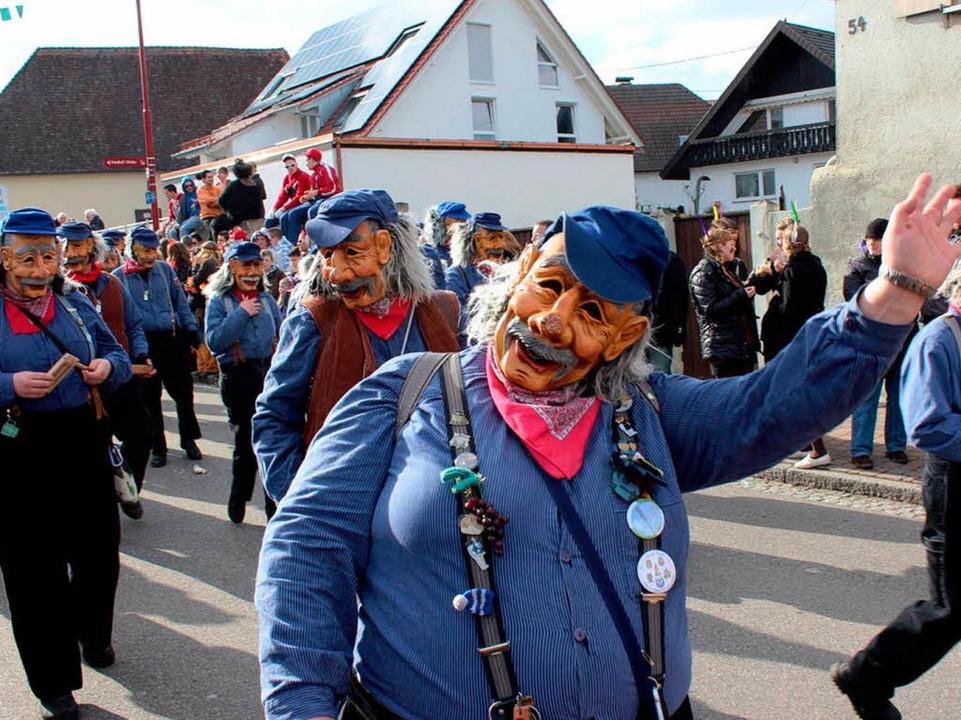 Auch Schwaben feiern Fasnacht: Die Gastgruppe aus Unterjesingen  | Foto: Picasa