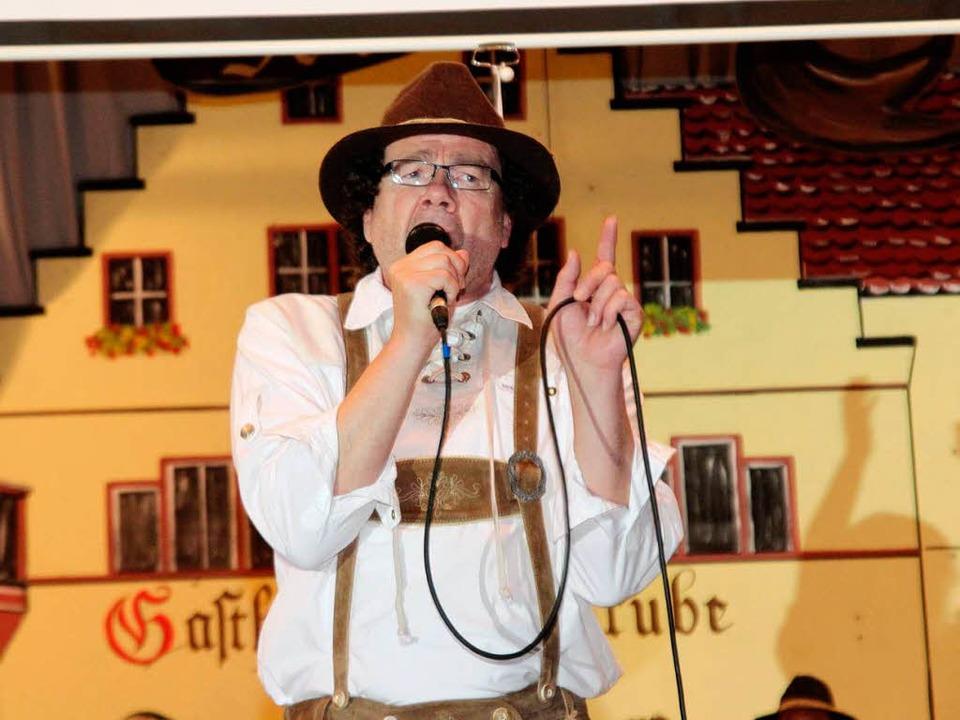 Lothar Hanser überzeugte auch in Lederhose.  | Foto: Michael Saurer