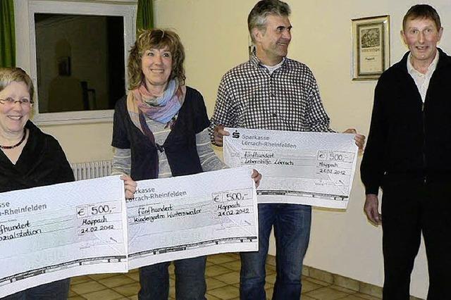 1500 Euro Spenden aus dem