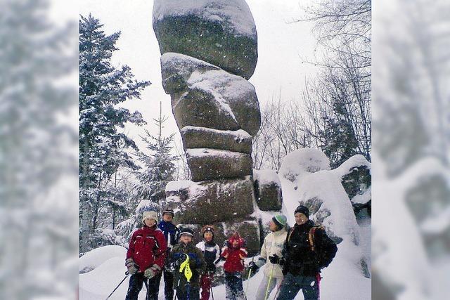 Schneeschuhwandern um den Berg