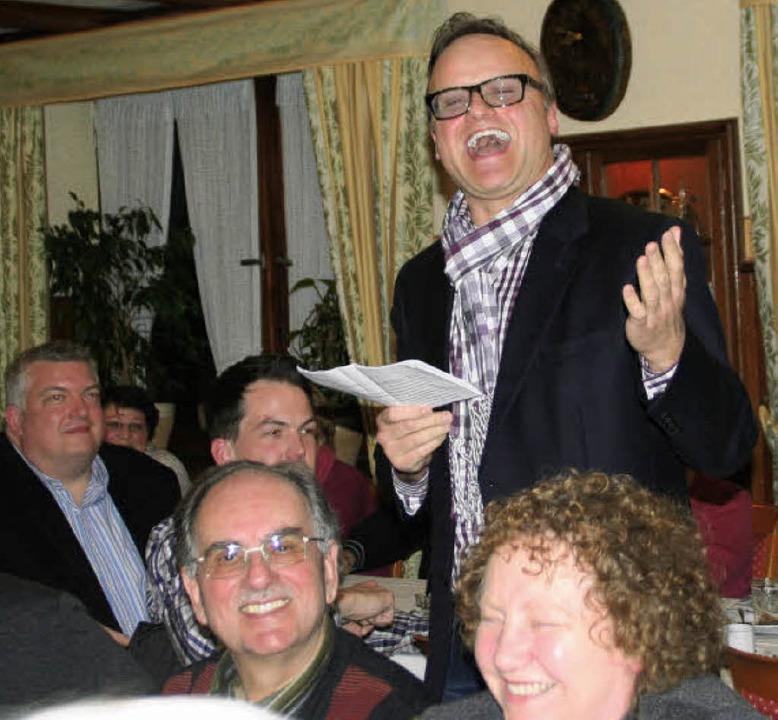 Karl-Rainer Kopf bei seiner Rede beim ...ch der Sozialdemokraten in Ringsheim.   | Foto: Erika Sieberts