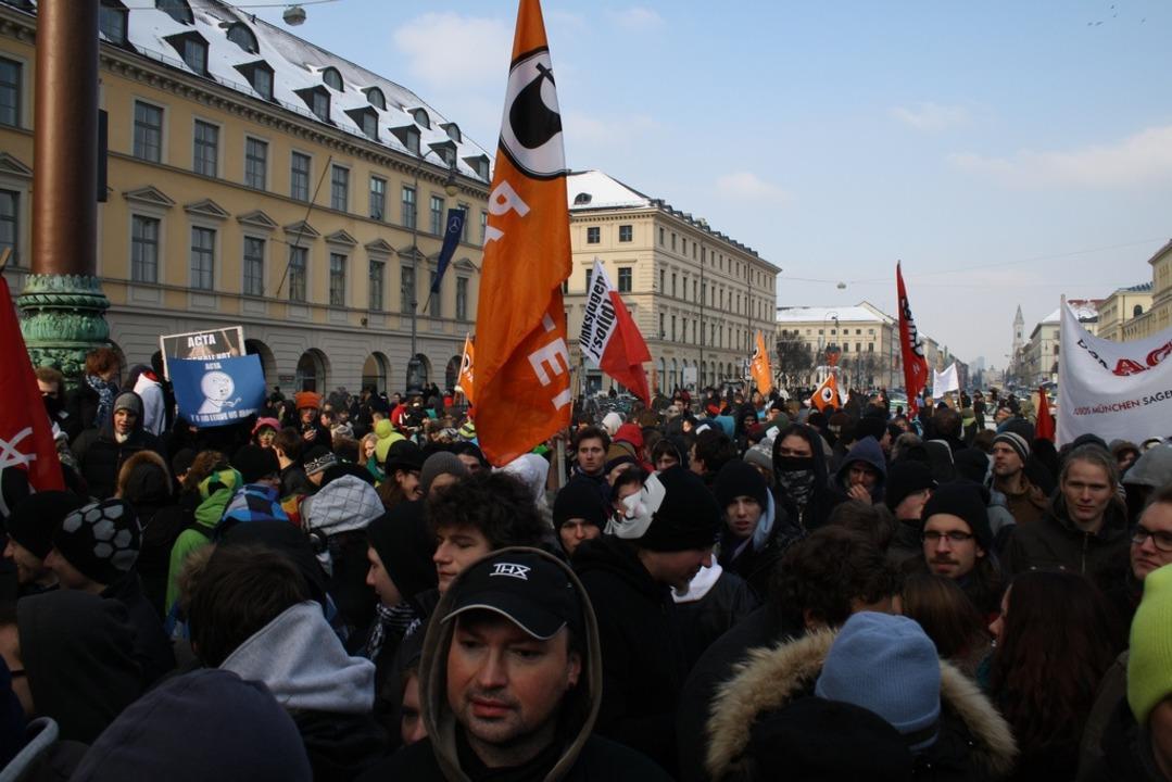 Wie hier in München gab es auch in Deu...nd bereits zahlreiche Anti-ACTA-Demos.  | Foto: IDG