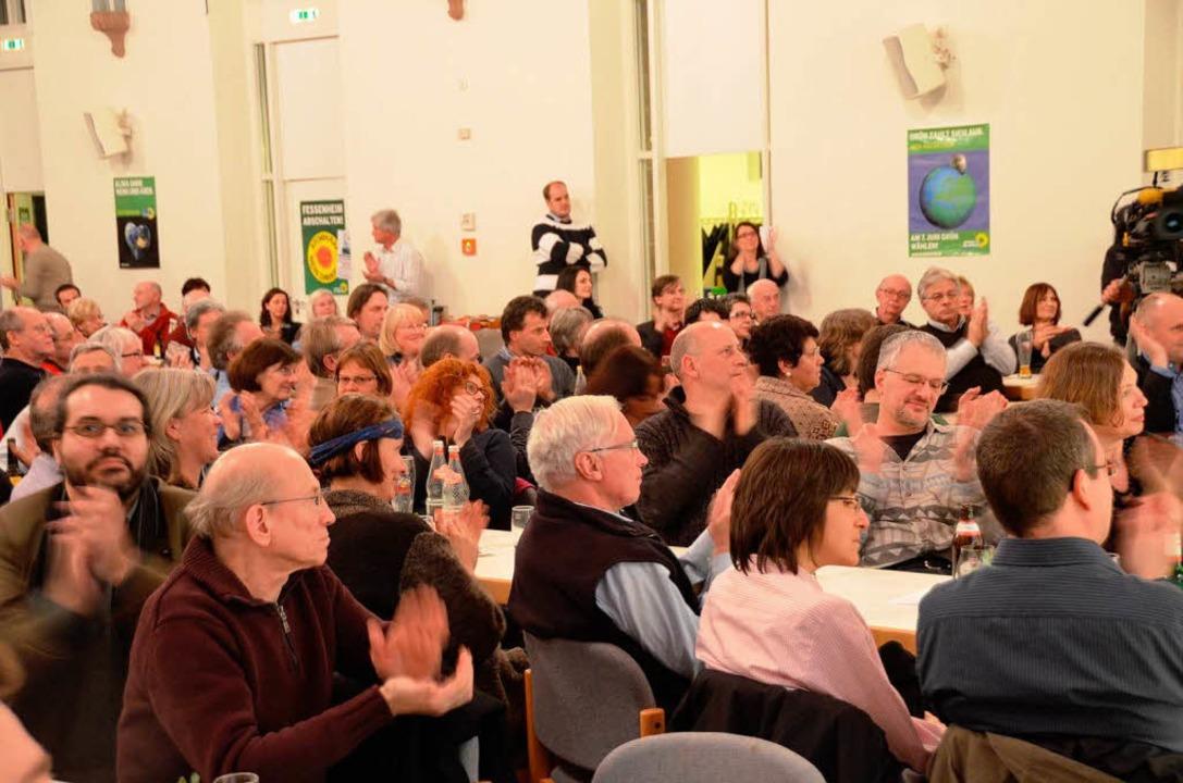 Applaudierendes Publikum  | Foto: Hans-Jürgen Truöl