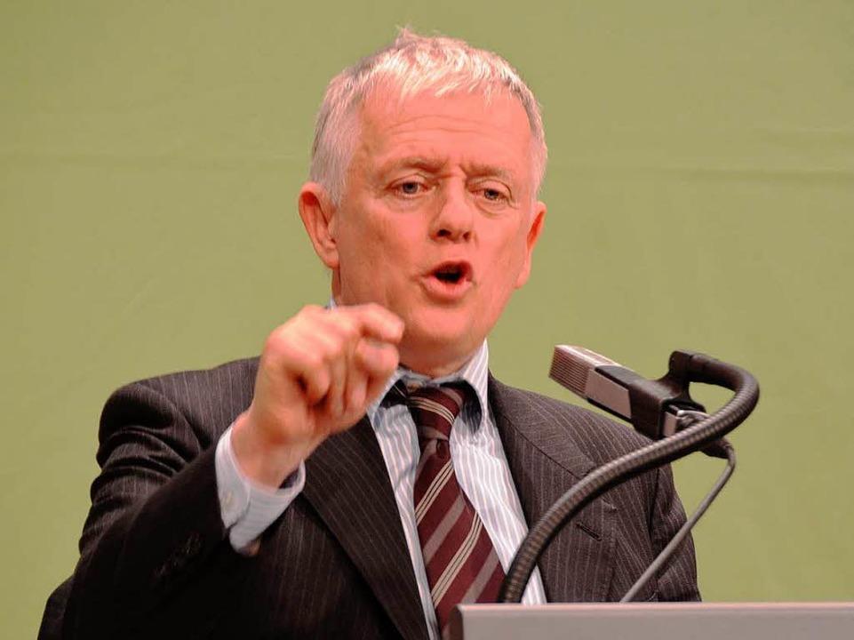 Staatsmännisch: Stuttgarter OB-Kandidat Fritz Kuhn  | Foto: Hans-Jürgen Truöl