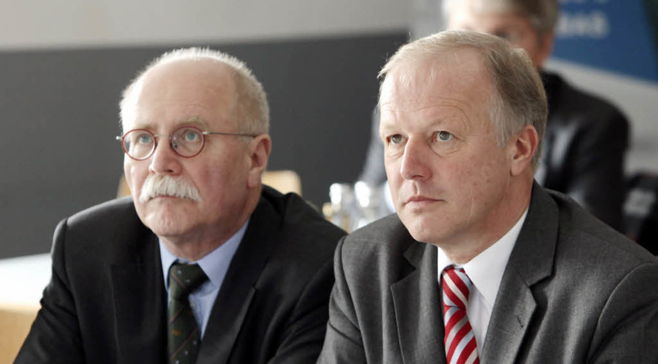 Herbert Rische und Peter Weiß bei der Miller GmbH   | Foto: chr. breithaupt