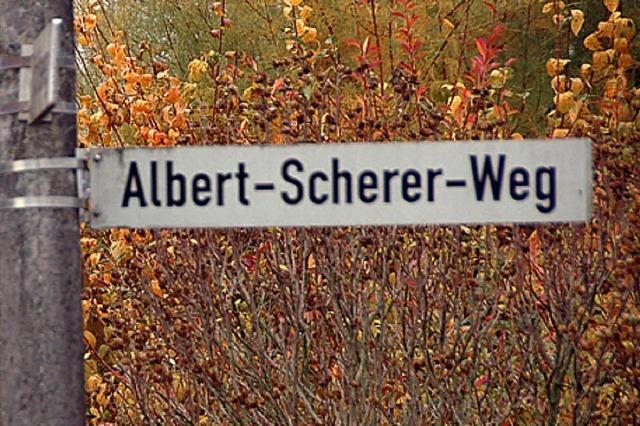 Doch es bleibt beim Albert-Scherer-Weg