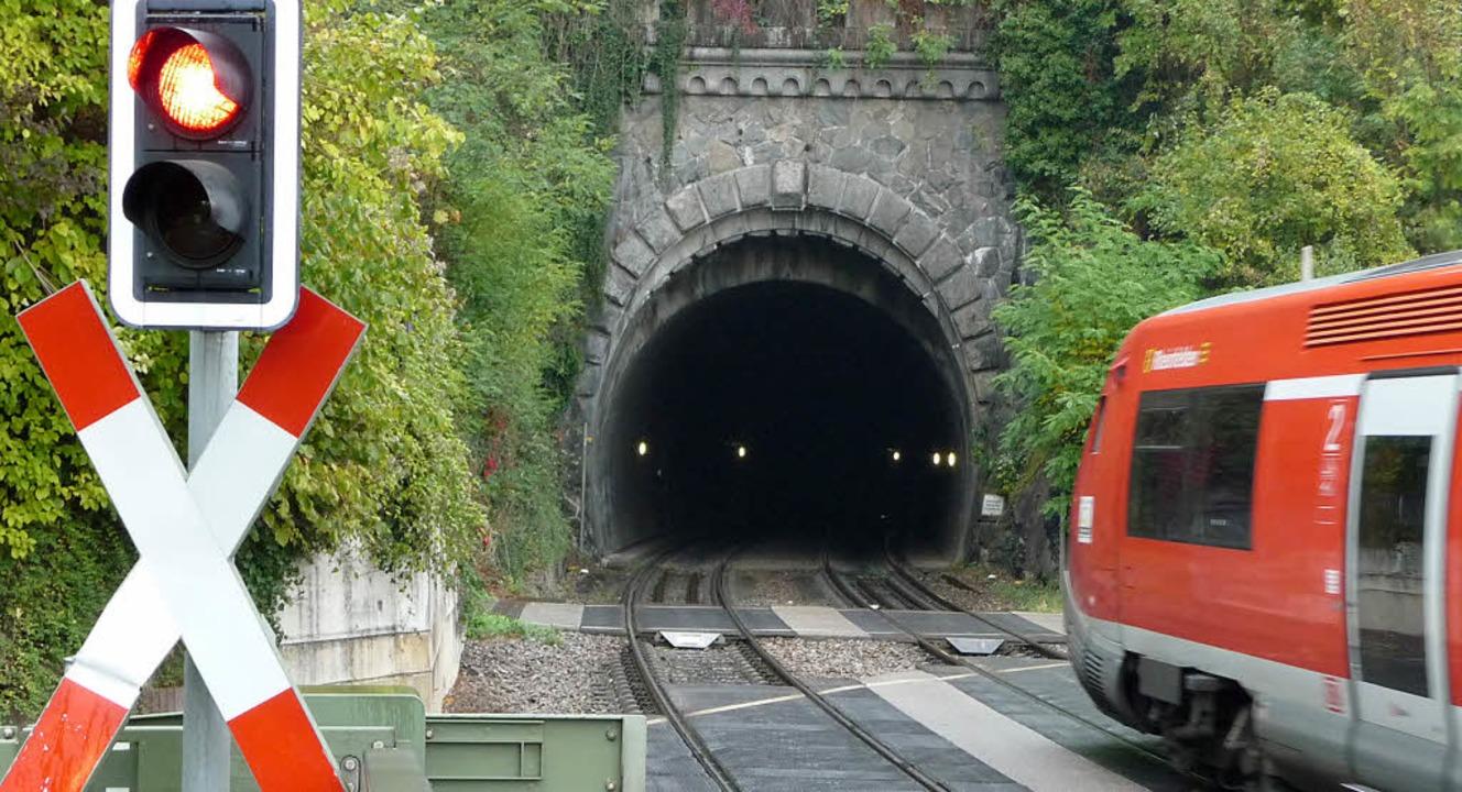 Die Tunnel entlang der Hochrheinstreck...-Nutzen-Analyse der Elektrifizierung.   | Foto: Saskia Baumgartner