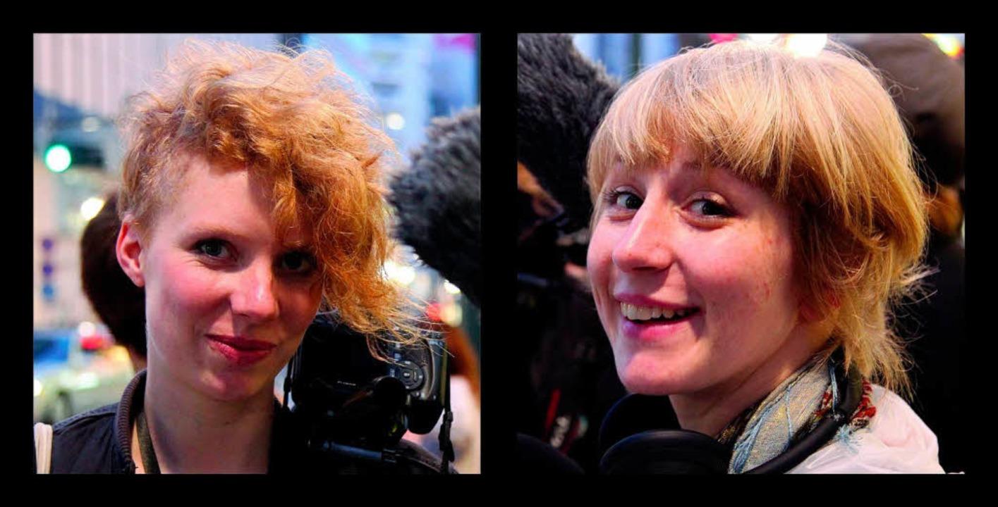 Die Regisseurinnen der Dokumentation &...a Leser (26) und Clarissa Seidel (29).    Foto: privat