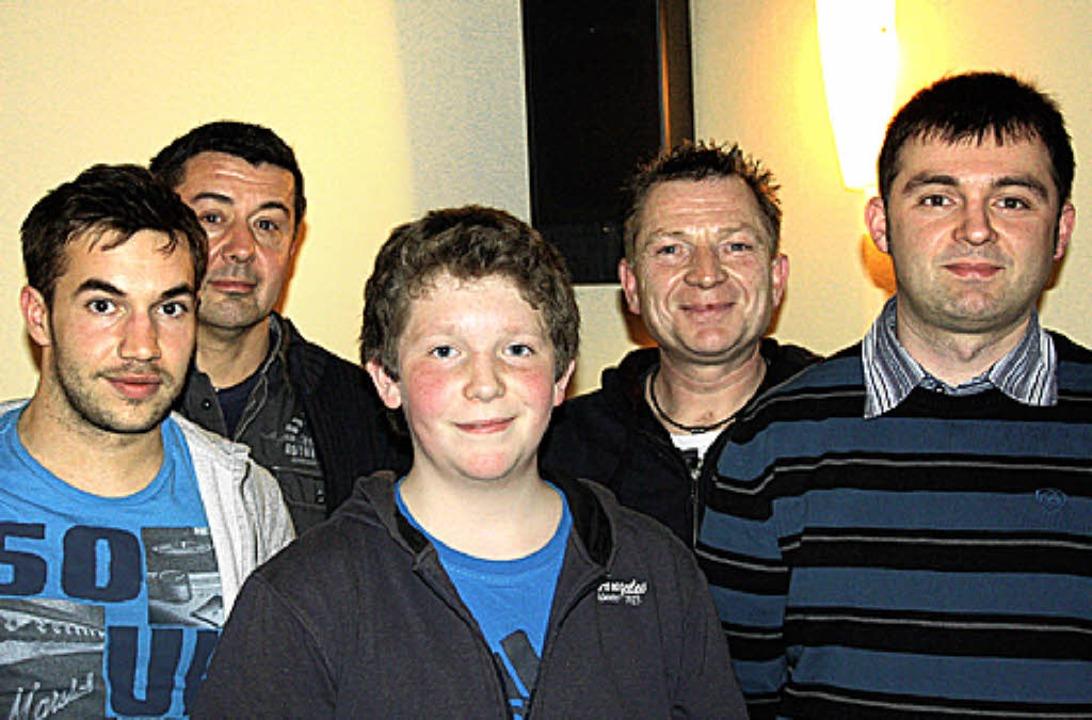 Thomas Adler und Lothar Männer ehrten ...Eccardt, Thomas Adler und Julian Boos.  | Foto: Christiane Franz