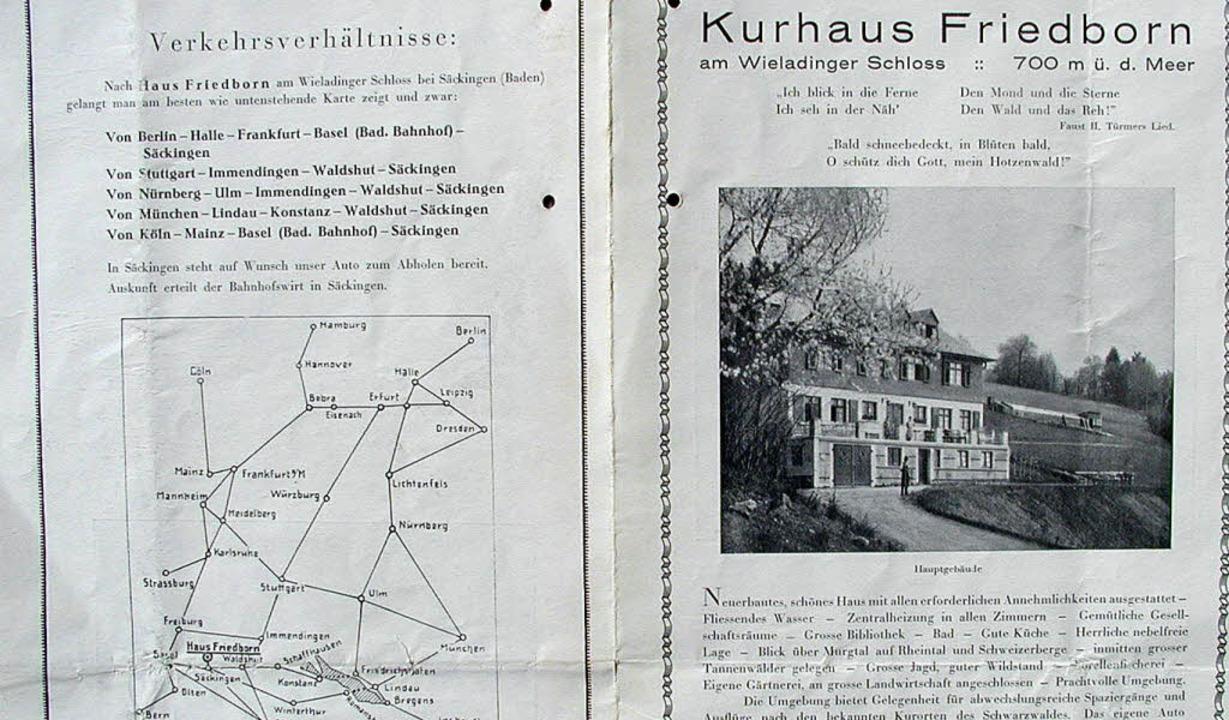 Die alten Dokumente über das damalige ...gsarbeiten für den Schwarzwaldverein.   | Foto: FOTOS: WOLFGANG ADAM