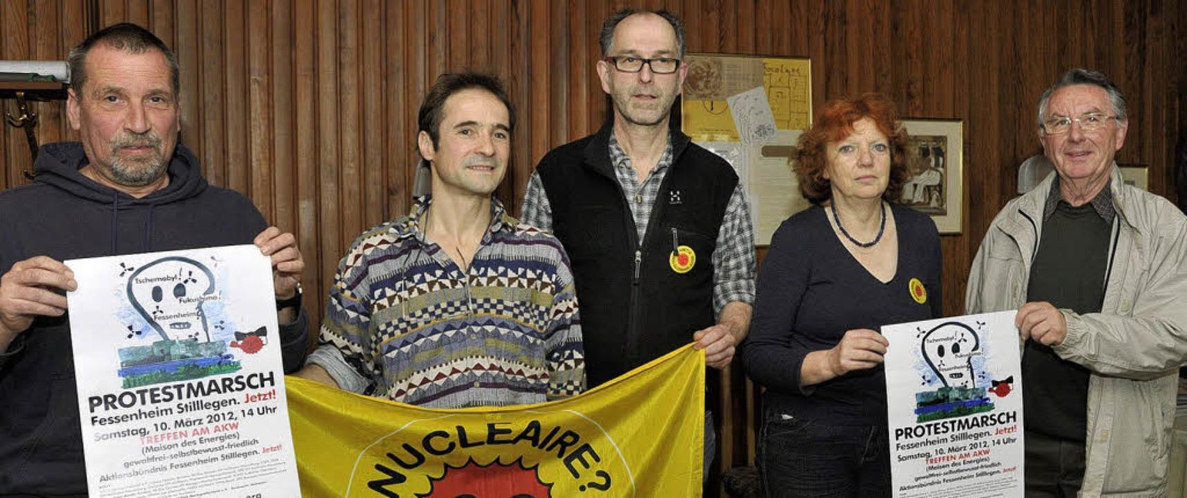 Ulrich Rodewald, Gilles Barth, Jürgen ...nz Schneider organisieren die Aktion.   | Foto: Volker Münch