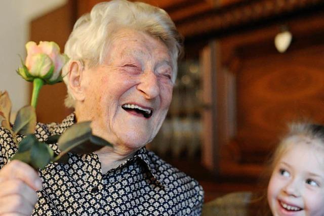 Franziska Rau ist mit 110 die älteste Frau im Südwesten