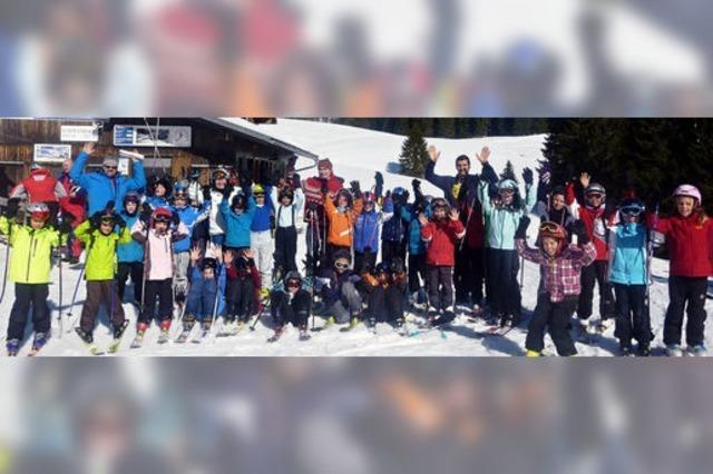Ski- und Schlittenfahren
