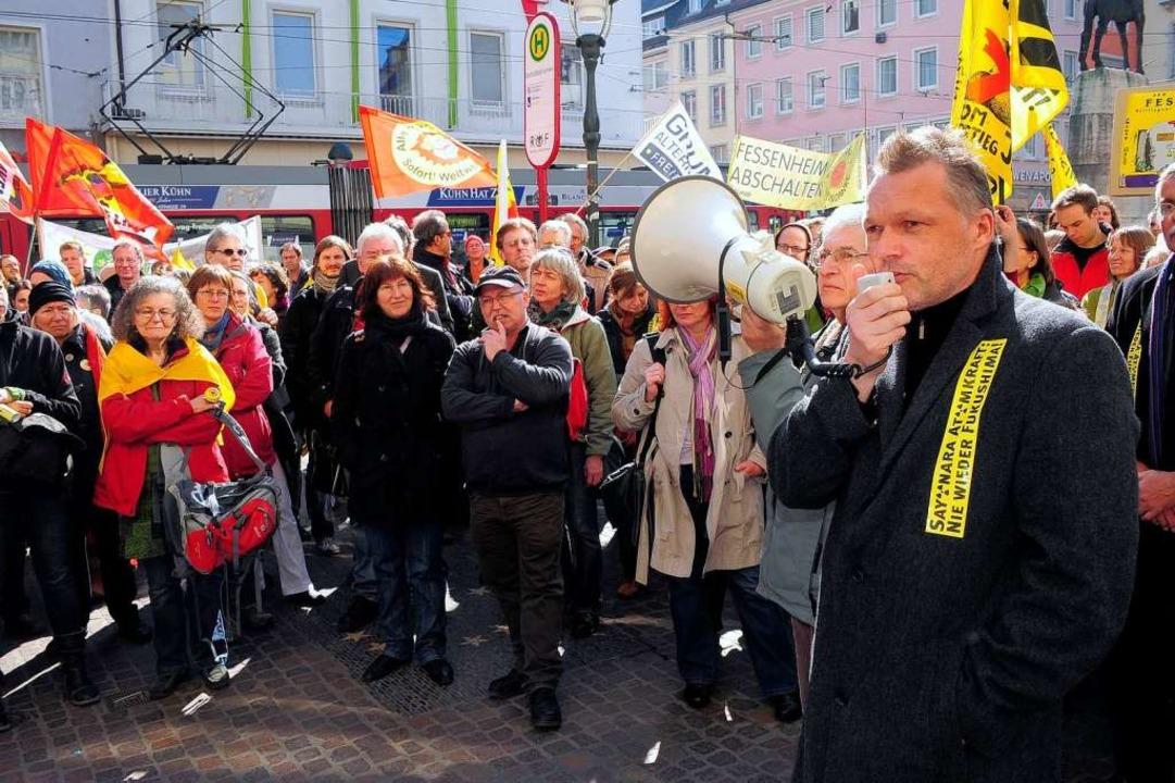 """""""Fingerzeig der Geschichte&#8220...Stadtrat und Parteichef Walter Krögner    Foto: Thomas Kunz"""