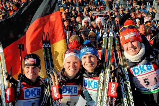 Deutsche Frauenstaffel gewinnt Gold