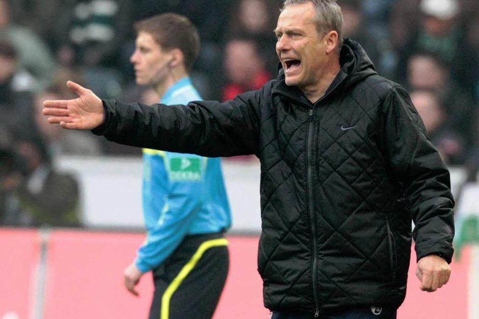 Regisseur an der Seitenlinie: SC-Trainer Christian Streich. (Foto: dapd)