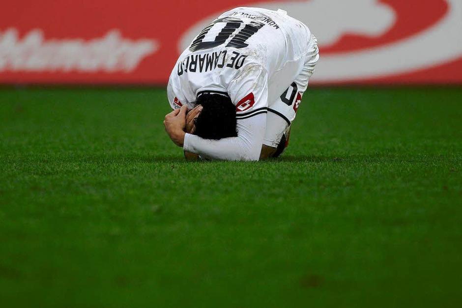 Enttäuschung bei den Gladbachern: Sie kommen gegen den SC Freiburg nicht über ein 0:0 hinaus. (Foto: dapd)