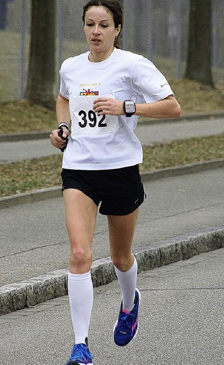 Klare  Siegerin des  Halbmarathons: Susanne Gölz aus Stühlingen  | Foto: Blazenko Miloslavic