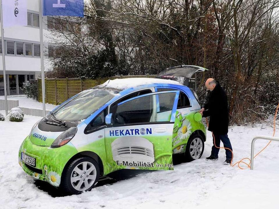 E-Auto bei Hekatron.  | Foto: Thomas Kunz