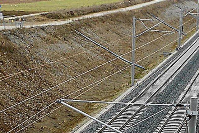 Rheintalbahn: Sicherheitszaun nur auf der Westseite