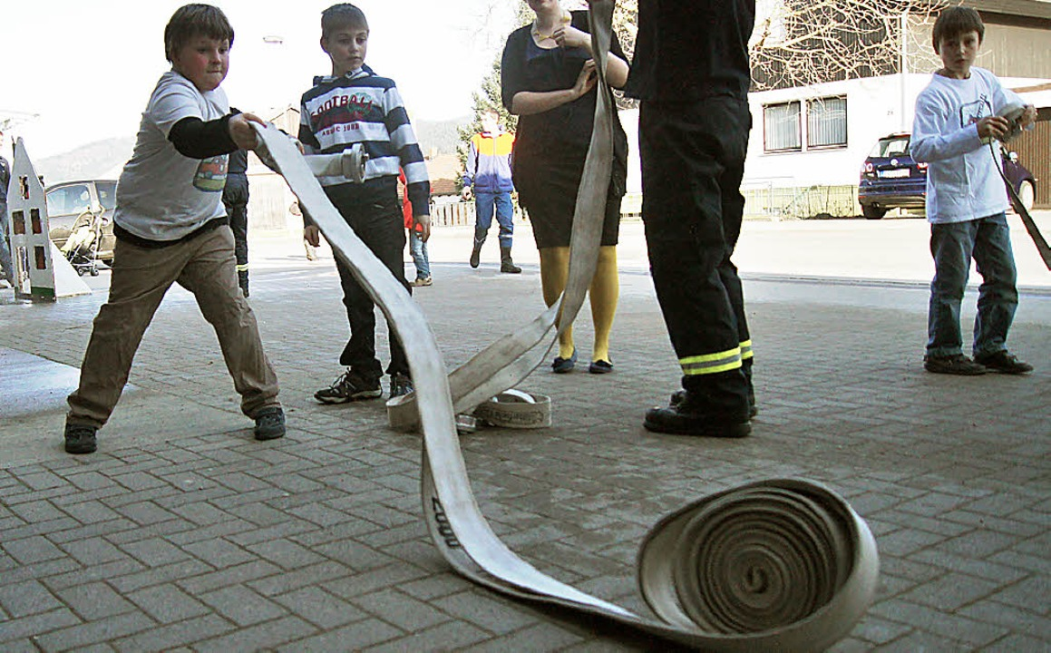 Ganzer Einsatz wurde von den kleinen B...ges der Feuerwehr in Wittnau geboten.     Foto: Nicole Rosenthal