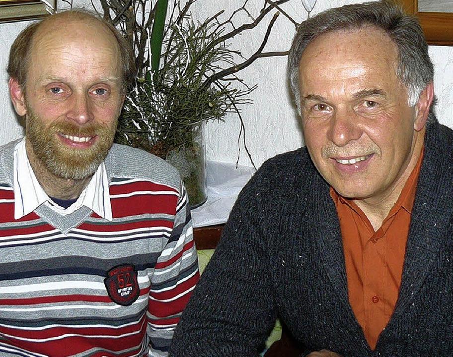 Konrad Fehrenbach (links) ist neuer Sc...ers, der es 16 Jahre lang inne hatte.   | Foto: Edeltraud Blume