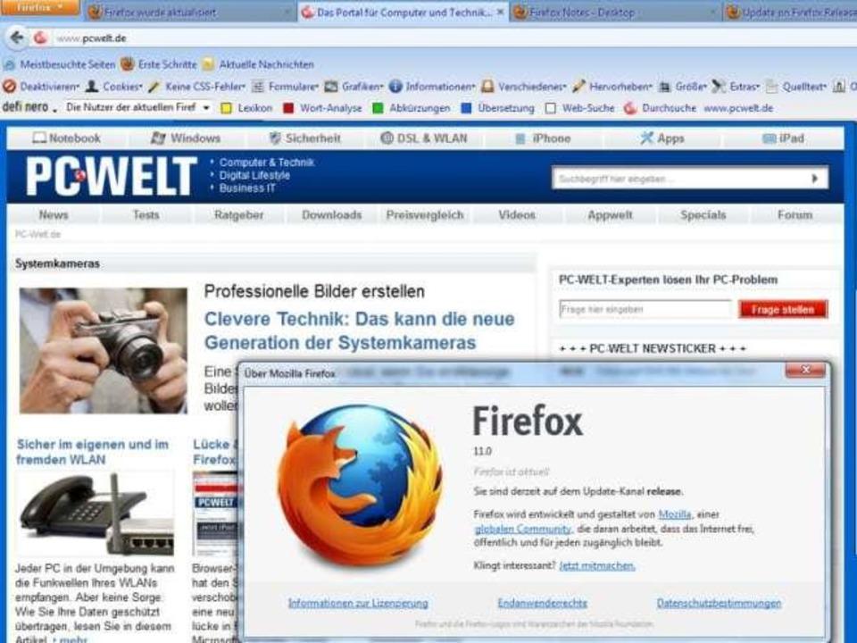 Firefox 11 steht zum Download bereit  | Foto: IDG