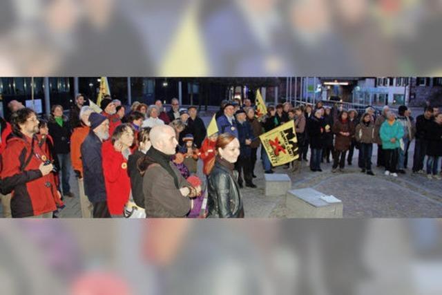 Mahnwache gegen die Atommeiler