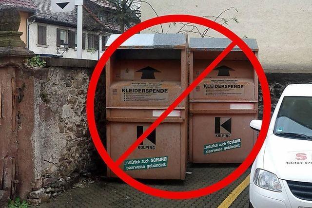 Keine Altkleider mehr in die Kirchstraße 16