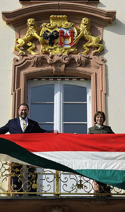 Europäischer Übersetzerpreis Thema Lit...nd Oberbürgermeisterin Edith Schreiner  | Foto: Ralf Burgmaier