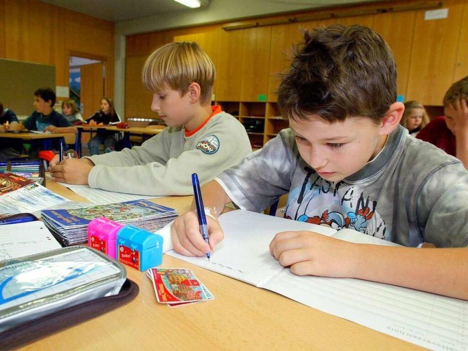 Was kommt nach der vierten Grundschulk...e beantworten jetzt allein die Eltern.  | Foto: dpa