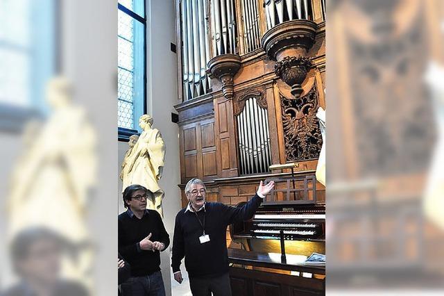 Beeindruckender Gang ins Orgelinnere