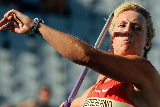 Speerwerferin Christina Obergföll arbeitet mit Mentaltrainer
