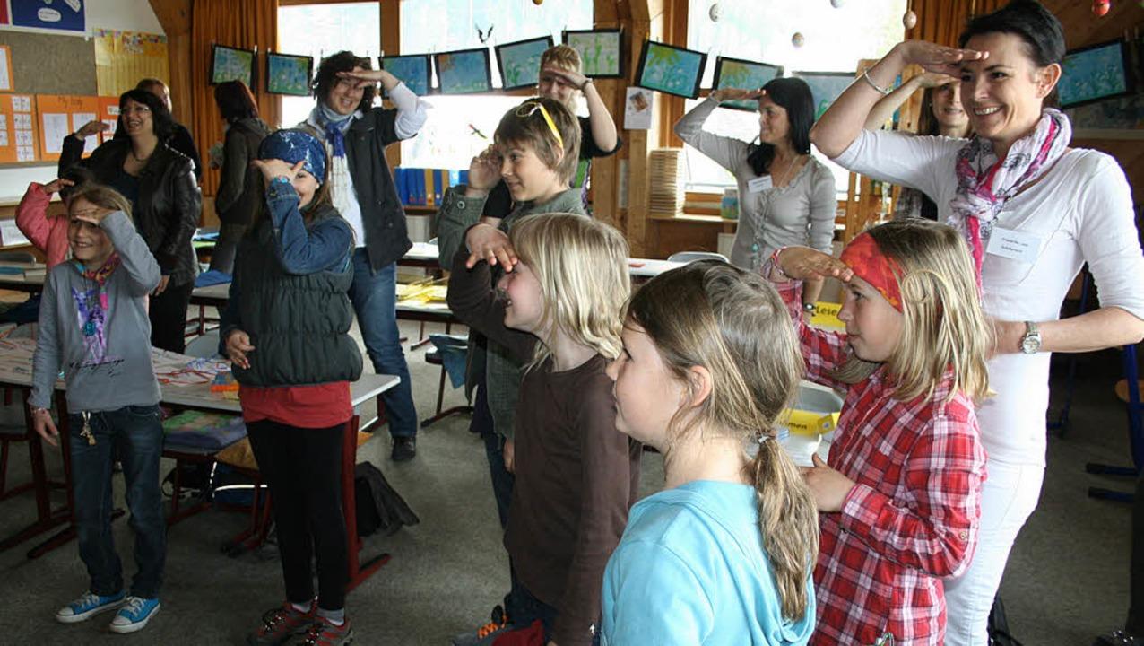 Viel Anklang fand das Mitmachsingen vo...atten  Spaß bei den heiteren Liedern.   | Foto: Dieter Maurer