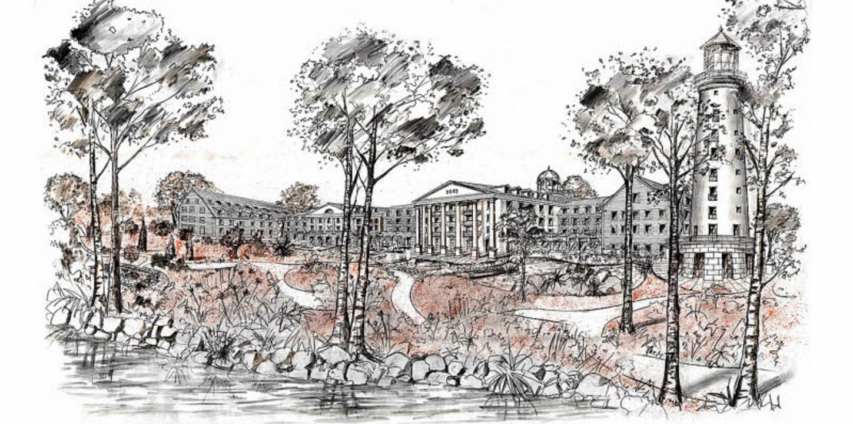Neumeiers erster  Entwurf des neuen Europa-Park-Hotels Bell Rock  | Foto: BZ